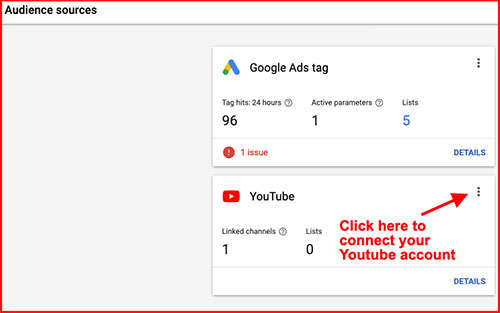 connect youtube to adwords
